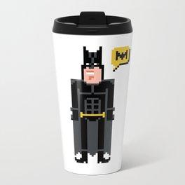 Pixel ManBat Metal Travel Mug