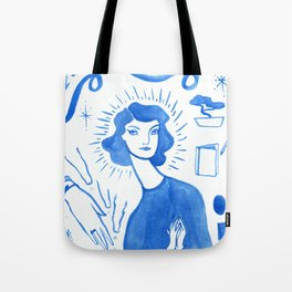 Blue Charms Tote Bag