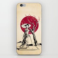 geisha iPhone & iPod Skins featuring Geisha by Rafapasta