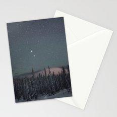 Big White Stars V Stationery Cards