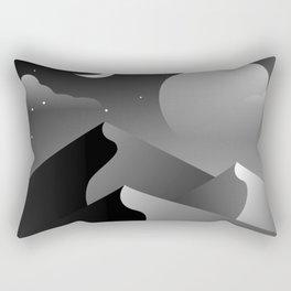 Black Desert Evening Rectangular Pillow