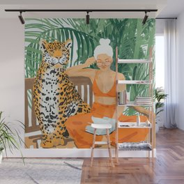 Jungle Vacay #painting #illustration Wall Mural