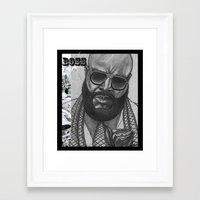 boss Framed Art Prints featuring BOSS by TATTZ4CARZ