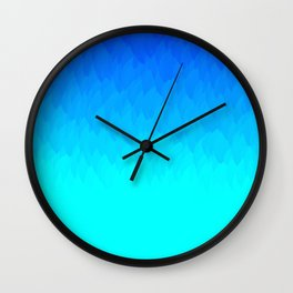 Electric Blue Ombre flames / Light Blue to Dark Blue Wall Clock