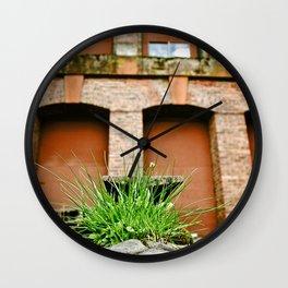 Industrial vegetation Wall Clock
