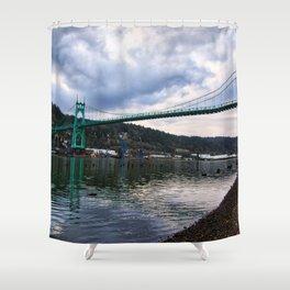 St. Johns Bridge Shower Curtain
