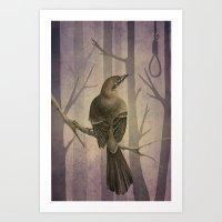 to kill a mockingbird Art Prints featuring Mockingbird by Marilyn Foehrenbach