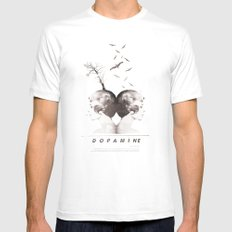 Dopamine | Collage White Mens Fitted Tee LARGE