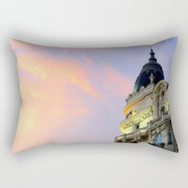 Sunset over the Carlton in Cannes! Rectangular Pillow