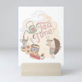 Tea Time with Harriet Hedgehog Mini Art Print