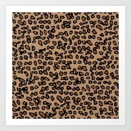 Digital Leopard Art Print