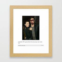 Zayn Malik Tumblr Post Framed Art Print