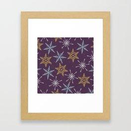 Shiny Winter Purple Framed Art Print