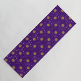 Astrological Purple Stars and Sun Yoga Mat