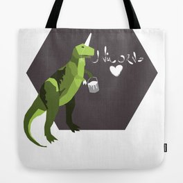 go home t-rex, you're drunk. Tote Bag
