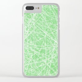 Green Web Lime Light Clear iPhone Case