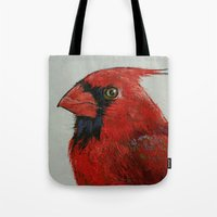cardinal Tote Bags featuring Cardinal by Michael Creese