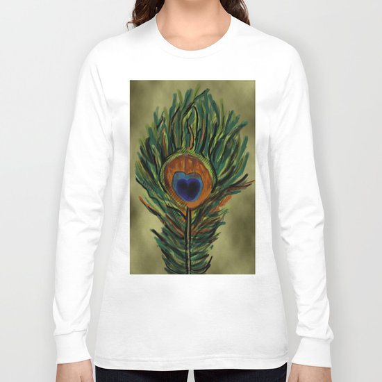Peacock Pattern  Long Sleeve T-shirt