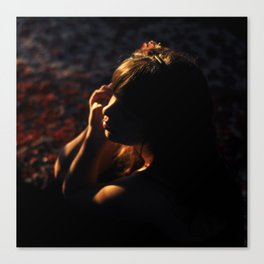 Girl in Shadows Canvas Print