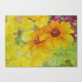 Soft Yellow Flowers Canvas Print