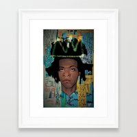 basquiat Framed Art Prints featuring Basquiat by Elton Leonard Jr.