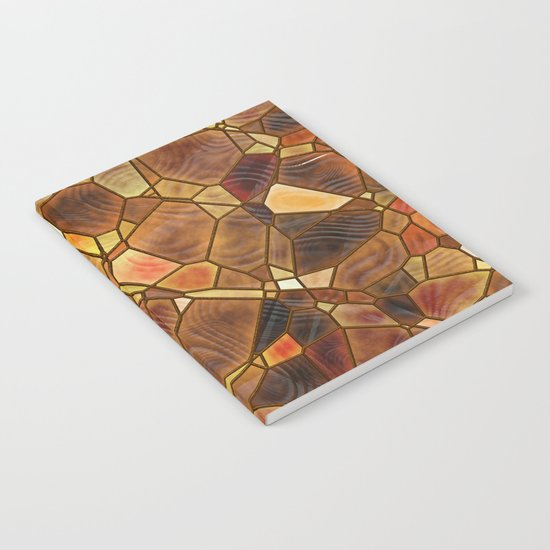Stained Glass - Copper Notebook