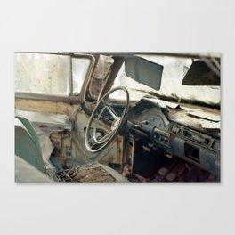 Tired Car. Canvas Print