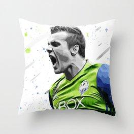 Jordan Morris Football Print Football Wall Art Football Poster Football Wall Decor Poster Throw Pillow
