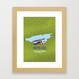 Issyk-Kul Kyrgyzstan lake Framed Art Print