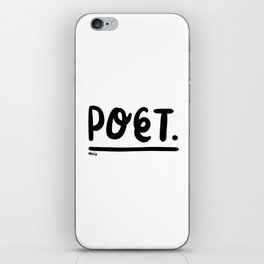 rendez-vous at the poetry section. iPhone Skin