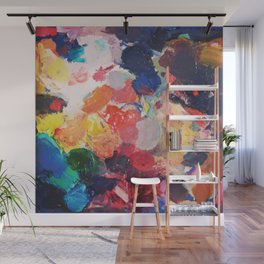 Paint Palette Wall Mural