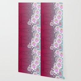 Poeny-Japanese Kimono Art Wallpaper
