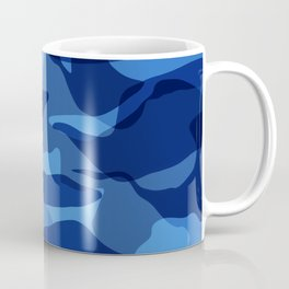 Blue Camouflage Military  Coffee Mug