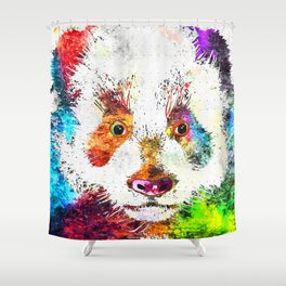 Giant Panda Grunge Shower Curtain