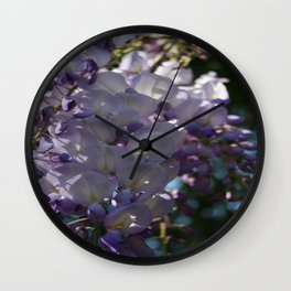 Wisteria Sunlight and Shadows Wall Clock