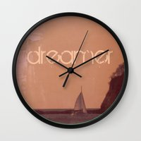 dreamer Wall Clocks featuring Dreamer by Endless Summer