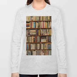 Bookshelf Books Library Bookworm Reading Long Sleeve T-shirt