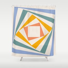 Spinning Squares Palette III Shower Curtain