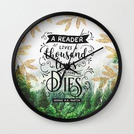 Thousand Lives Wall Clock