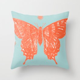 Star Anise Butterfly  Throw Pillow