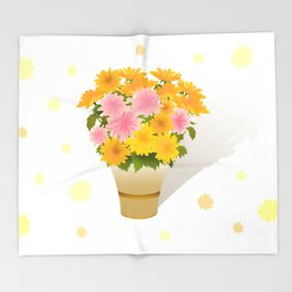 Bouquet of asters Throw Blanket