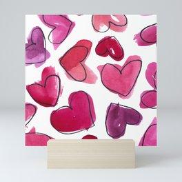 LOVE Hearts Watercolour Mini Art Print