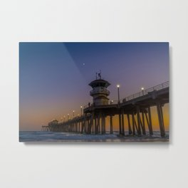 New Moon Over Zero Metal Print