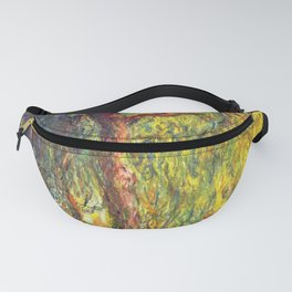Claude Monet - Weeping Willow - Digital Remastered Edition Fanny Pack