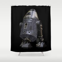 sci fi Shower Curtains featuring Steampunk Sci-Fi 4 by gypsykissphotography
