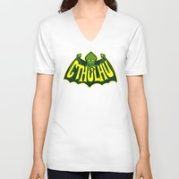 cthulhu V-neck T-shirts featuring Cthulhu by Buby87