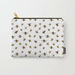 Bumblee Bee Watercolor Pattern Carry-All Pouch