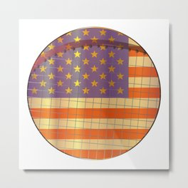 Tennis Stars And Stripes Metal Print