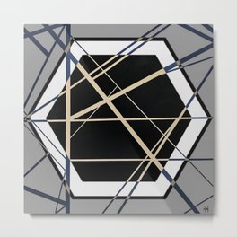 Crossroads - Hexagon Metal Print
