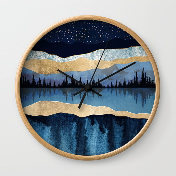 Midnight Lake Wall Clock